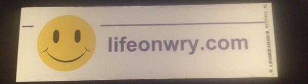 lifeonwrybumpersticker