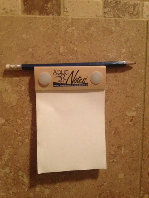 Notepad For The Shower Life On Wry