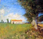 Van Gogh Farmhouse in a Wheatfield