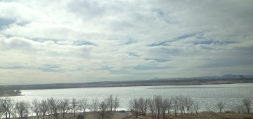 View as I cross over the dam to go to Mom's.